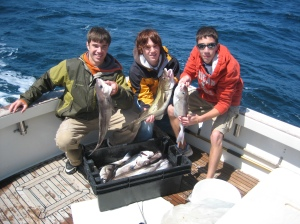 Fienman family SPring Cod & Haddock Fishing on Tuna Hunter