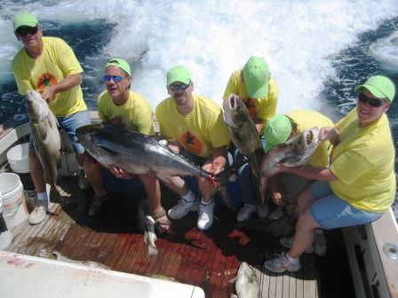 Pineapple Gang goes home with a mix of fish, including Bluefin Tuna
