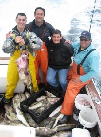 Rubin-Pascal Cod & Striper Fishing Charter Gloucester, MA on Tuna Hunter Fishing Charters