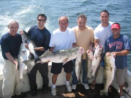 Airasian Fine Stirped Bass Fishing Charter on Tuna Hunter