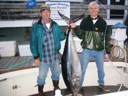 Gloucester bluefin tuna fishing on Tuna Hunter fishing charters